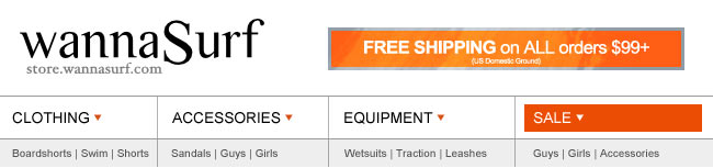 Shop WannaSurf Today - Get Free Shipping on all Orders $99+!
