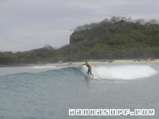 Surfing Waddy Point Fraser Island
