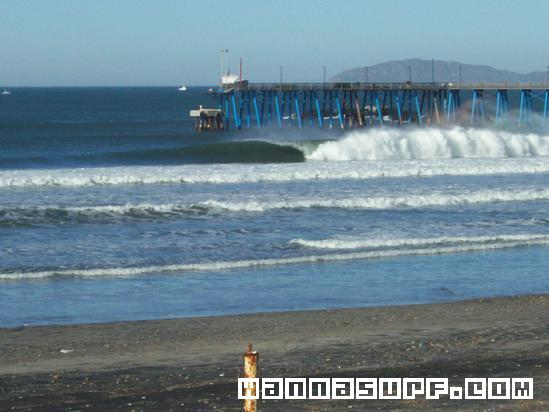 Rosarito Beach Pier Southside Surfing In Baja Norte Mexico